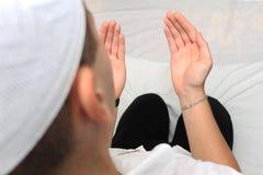 Muslim Man Is Praying Royalty Free Stock Image