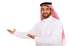 Muslim man presenting Stock Photography