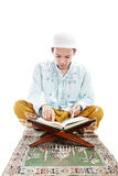 Muslim man reading quran Royalty Free Stock Photography