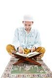 Muslim man reading quran Royalty Free Stock Photography