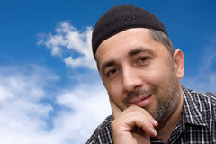 Muslim man and the sky royalty free stock photography