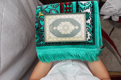 Muslim men Reading Holy Islamic Book Koran Royalty Free Stock Photos