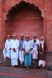 Muslim men standing at Jama Masjid in Delhi, India Royalty Free Stock Photography