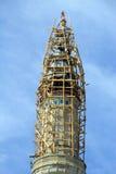 Muslim minaret construction Royalty Free Stock Photo