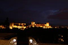 Muslim monument la Alhambra in Granada stock image