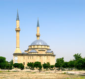 Muslim mosque. In the evening Royalty Free Stock Photos