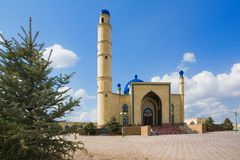 Muslim mosque on blue sky Stock Images