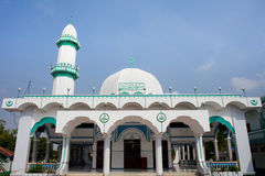 Muslim mosque in Chau Doc, Mekong Delta, Vietnam. Muslim mosque found in Chau Doc, located along Mekong Delta in South Vietnam Royalty Free Stock Image