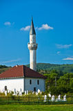 Muslim mosque with graveyard at Pešter higland Royalty Free Stock Photography