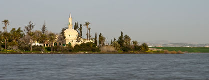 Muslim Mosque of Hala sultan Tekke in Larnaca, Cyprus Stock Photo