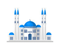 Muslim mosque icon isolated on white background. Vector illustration for islam religion design. Islamic temple landmark. Ramadan kareem holiday. Arabic culture vector illustration