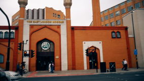 Muslim mosque. London. England. United Kingdom. The Muslim mosque in the capital of Britain stock video