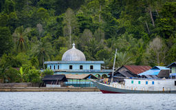 Muslim Mosque on Misool Island, Indonesia Royalty Free Stock Photos