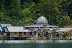 Muslim Mosque on Misool Island, Indonesia Royalty Free Stock Photo