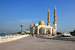 Muslim mosque in Sharjah. Royalty Free Stock Photography