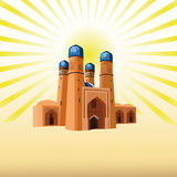 Muslim mosque in the sun Stock Photo