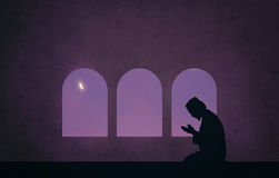 Muslim in the night of ramadan Stock Photo