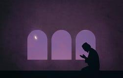 Muslim in the night of ramadan Stock Photo