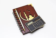 Muslim notebook nwith the  pen. Royalty Free Stock Image
