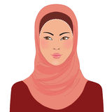 Muslim oriental womanl in hijab Stock Photography