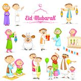 Muslim people celebrating Eid Royalty Free Stock Images