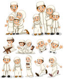 Muslim. People doing different activities Royalty Free Stock Image