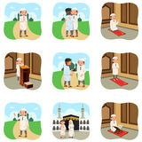 Muslim People Doing Their Religious Activities Stock Photography