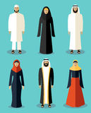 Muslim people flat icons Royalty Free Stock Photography