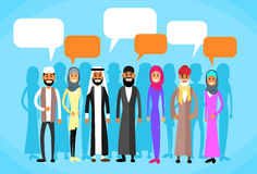 Muslim People Group Talking Discussing Chat Stock Images