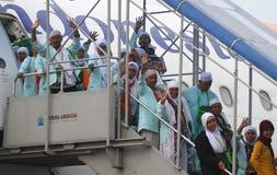 Muslim Pilgrim Going Home Stock Photos