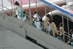 Muslim Pilgrim Going to mecca Royalty Free Stock Images