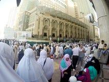 Muslim pilgrims filled the pedestrian after Asr prayers. Stock Images