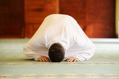 Muslim pilgrims at Miqat Royalty Free Stock Photo