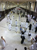 Muslim pilgrims perform saei� (brisk walking) Royalty Free Stock Photos
