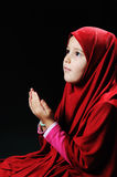 Muslim pray, little girl Stock Photos
