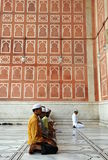 Muslim prayer. People pray in Friday Mosque Old Delhi, India. September 2009 Stock Photos