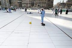 Muslim prayer alone Royalty Free Stock Image