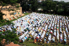 Muslim prayer. A group of Muslim are praying. Stock Images