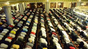 Muslim prayer stock footage