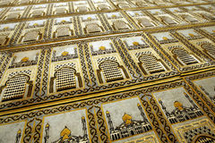 Muslim prayer mats. In a mosque royalty free stock photo
