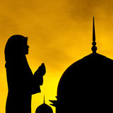Muslim prayer and mosque Stock Photo
