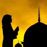 Muslim prayer and mosque stock photo