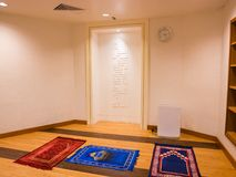 Muslim Prayer Room in Airport. Prayer room for muslim passenger in airport Royalty Free Stock Photo