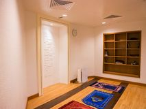Muslim Prayer Room in Airport. Prayer room for muslim passenger in airport Royalty Free Stock Photography