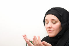 Muslim prayer woman Royalty Free Stock Images