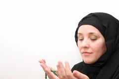 Muslim prayer woman Royalty Free Stock Images