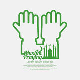Muslim Praying Concept Design. Royalty Free Stock Photography