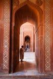 Muslim Praying Fatephur Sikri Mosque Red Stock Image