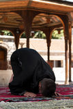 Muslim Praying In Mosque Stock Photo