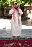 Muslim Praying In Mosque Stock Photography
